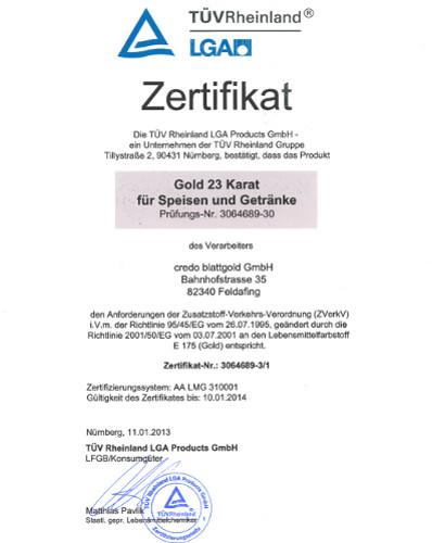 Zertifikat23Karat