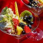 Blattgold für Früchtebecher