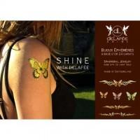 Temporäre Tattoos aus 24 karätigem Gold – Schmetterlinge
