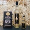 Exklusives Geschenkset klein – Vodka-Feige Likör und Edelschokolade Goldschatz