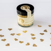 Blattgoldflocken Goldmarie Herzen 23 Karat – 8 mm – in verschiedenen Stückzahlen
