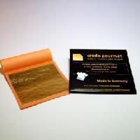 Feines essbares Blattgold 23 Karat – 80 x 80 mm – 50 Blatt