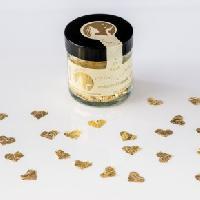 Blattgoldflocken Goldmarie Herzen 23 Karat – 215 Stück
